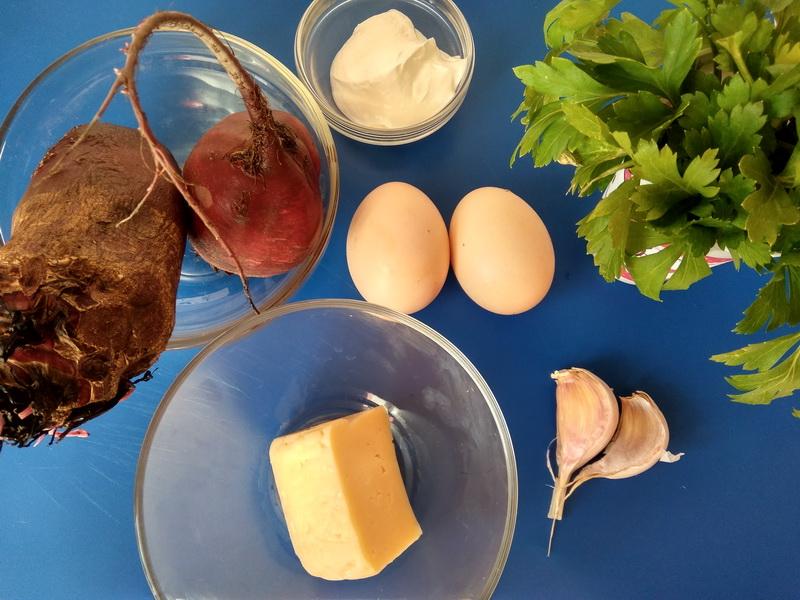 Закуска «Свекольные рафаэллки»
