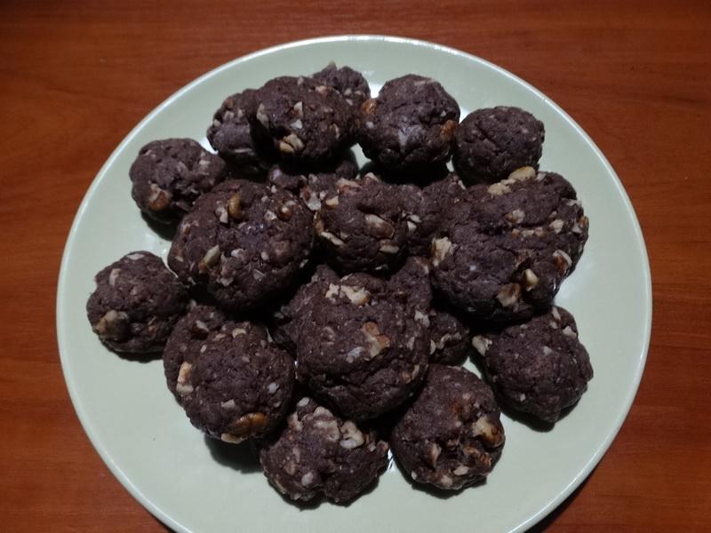 Шоколадное печенье за 10 минут