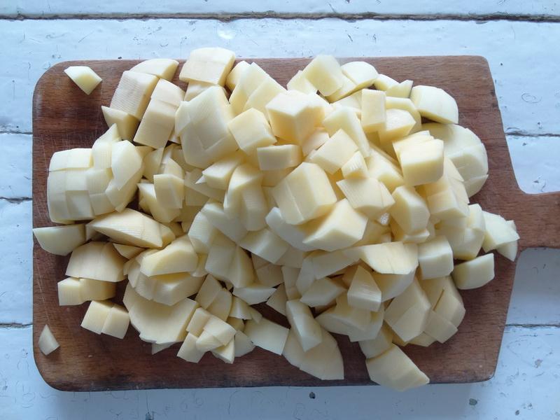 Хычины с начинкой из картофеля – любимые лепёшки моего мужа