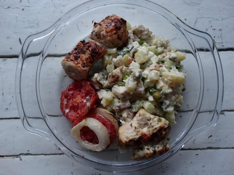 «Оливье на улет!» - рецепт из шашлыка и свежего огурца