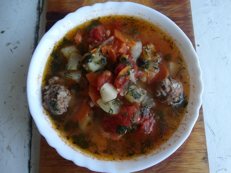 Пряный овощной суп из узбекской кухни