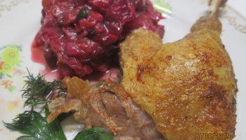 Как я готовлю сочную и мягкую утку с вишней и кабачками. Мясо получается очень нежным: просто тает в рту