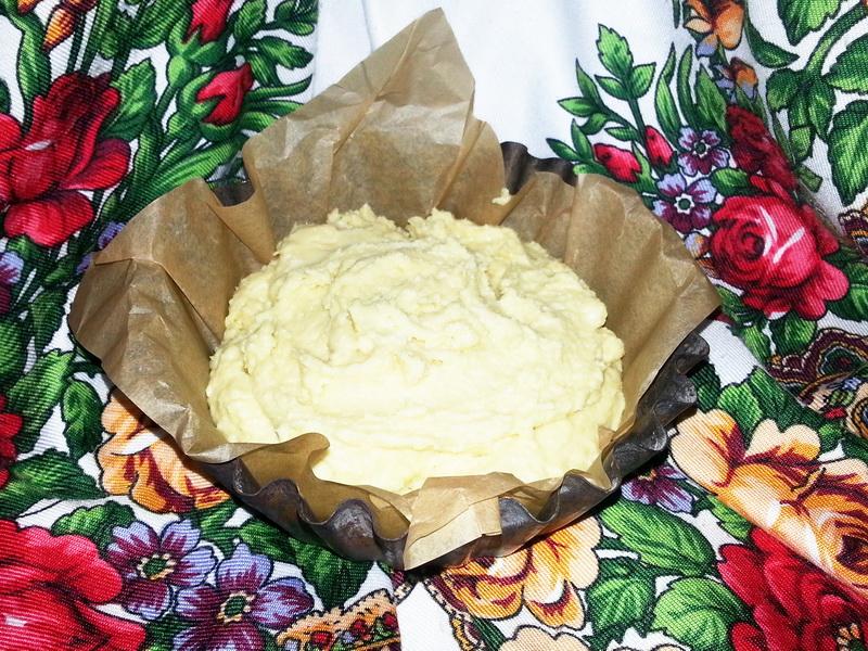 Творожный пирог на двух видах муки: пшеничной и кукурузной