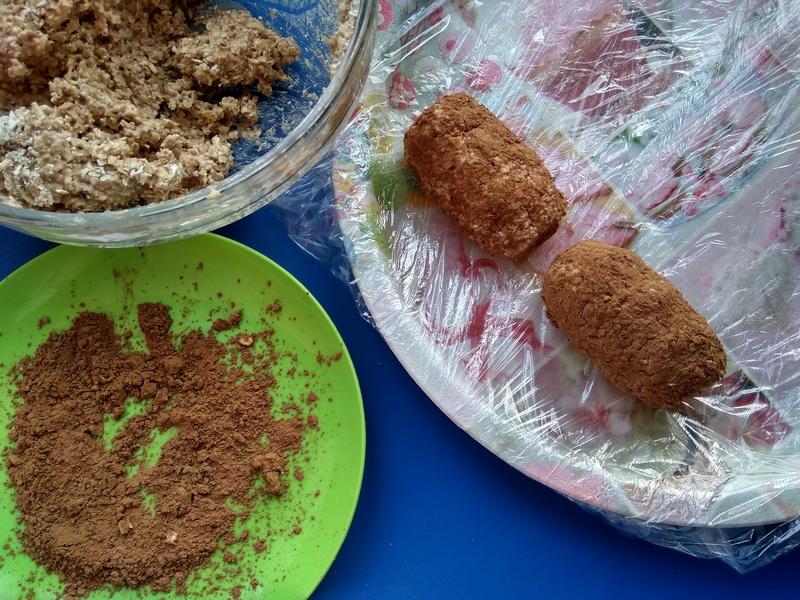 Новомодный. Полезный вариант пирожного «Картошка» из овсянки