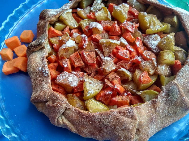 Галета с яблочно-морковной начинкой