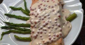 Мой «Фирменный лосось». Главная изюминка блюда: сливочно-икорный соус: это просто что-то