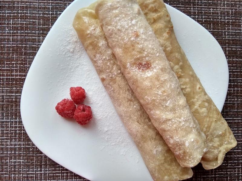 Настоящая «Мексиканская тортилья» - готовлю сама вместо хлеба, а на завтрак заворачиваю сливочно-малиновую начинку