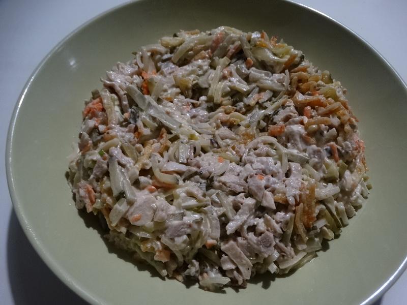 Салат «Гнездо глухаря» - неожиданно пришёлся по вкусу моей молодёжи, совсем не любителям советских салатов