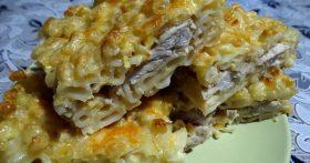 Готовлю «Мясной пирог» из макарон. Получается намного вкусней и проще, чем делать из теста