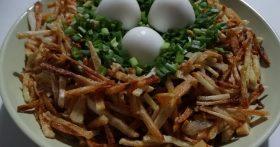 Салат «Гнездо глухаря» — неожиданно пришёлся по вкусу моей молодёжи, совсем не любителям советских салатов