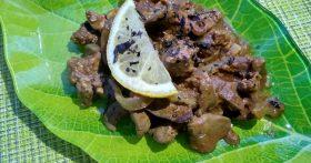 Куриная печень «По-восточному». Маринад и соус делают её особенно нежной и вкусной. К тому же без горечи и послевкусия