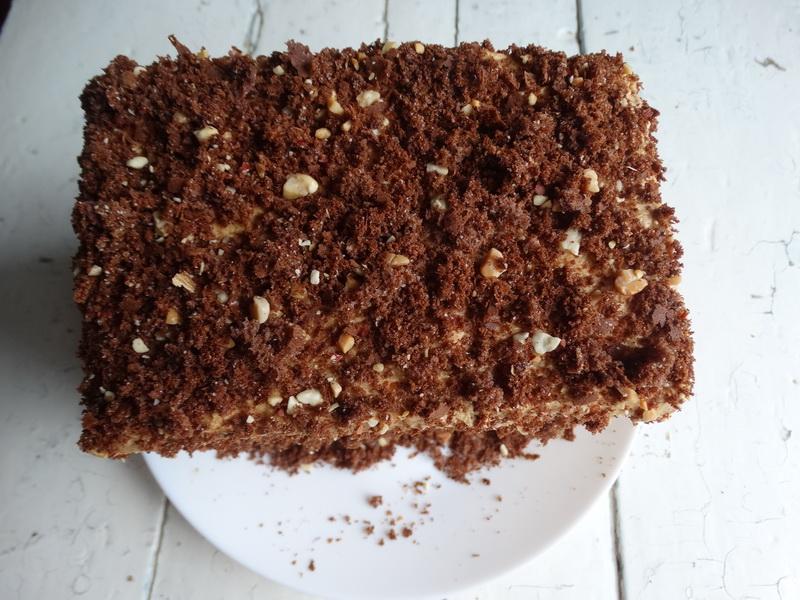 Торт «Золотой ключик». Мой торт-выручалочка, наверное, самый простой и вкусный из моей коллекции