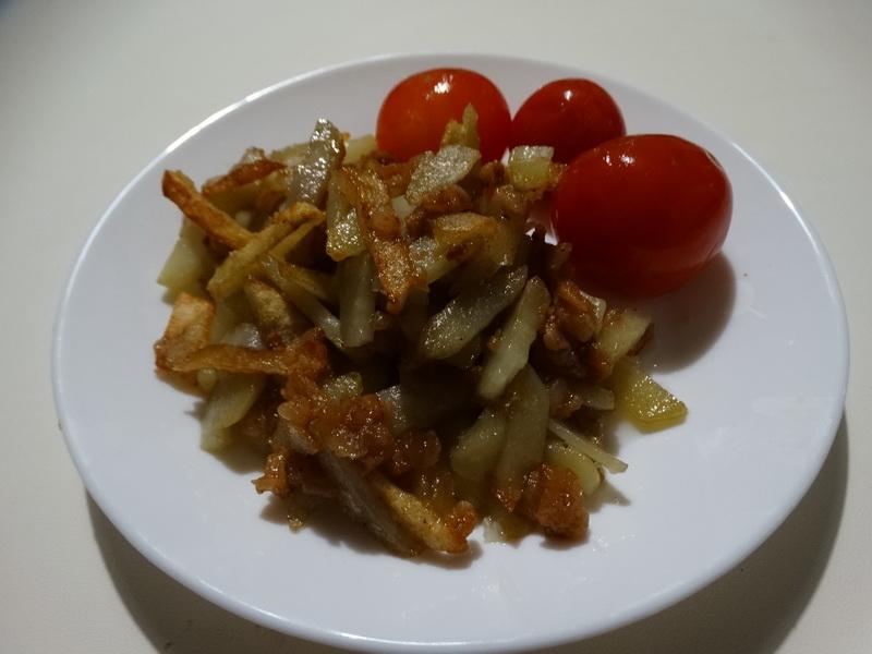 Жаренная картошка на сале