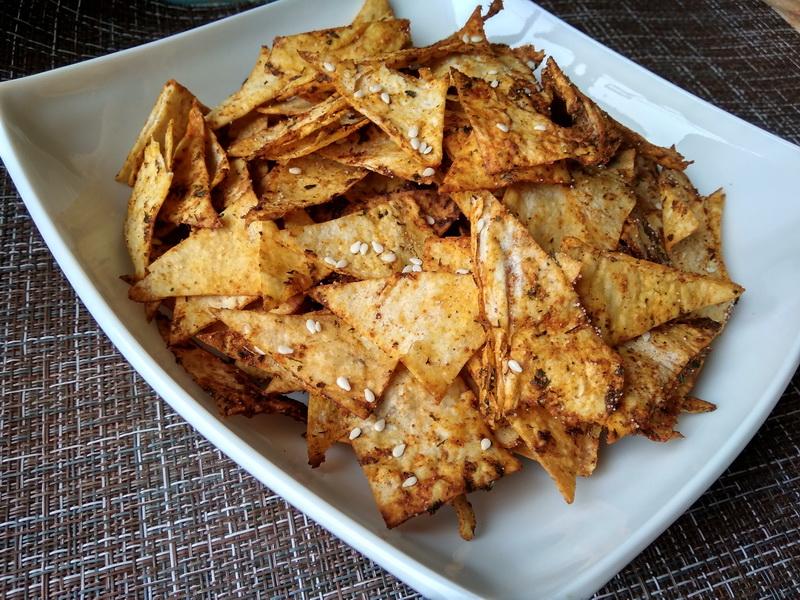 Полезные чипсы из лаваша
