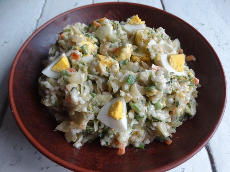 Салат с печеной капустой