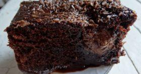 Заливной шоколадный пирог без хлопот — невероятно классно сочетаются шоколадный, банановый и даже кокосовый привкус