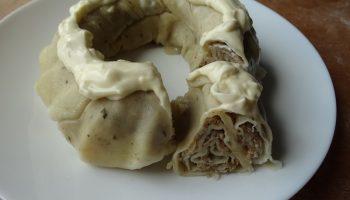 Готовлю татарскую катламу, как пирог. Без пароварки — в обычной форме, результат просто класс