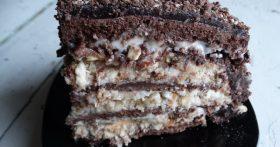 Торт «Мишка» — люблю этот рецепт за простоту и понятный состав, а внуки обожают его обалденный вкус