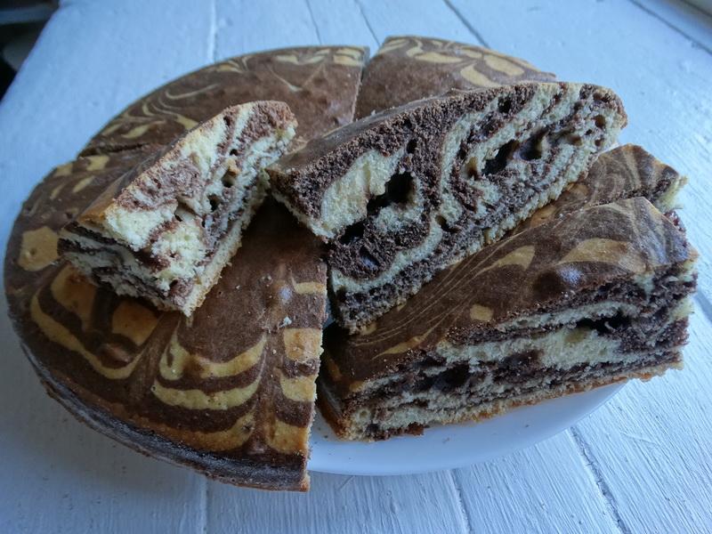 Мраморный пирог за 10 минут