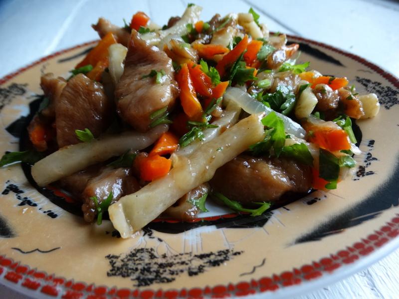 Стир-фрай курица с сельдереем