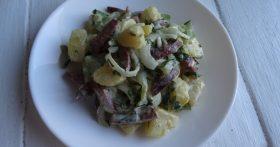 Немецкий картофельный салат – у мужа в любимых (вкусно и сытно, а по продуктам – проще некуда)