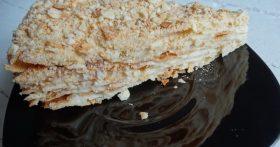 Рецепт «Творожный Наполеон» — простой и бюджетный (хрустящие коржи на твороге, а крем на молоке, сахара и масла минимум)