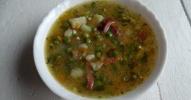 Вкусный гороховый суп без долгой варки – мой летний вариант