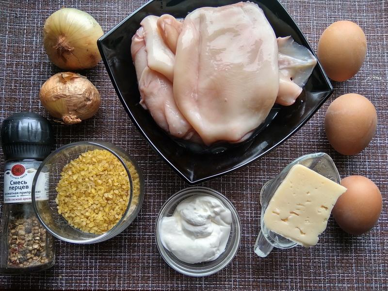 Кальмар с булгуром – салат просто объедение (готовлю из года в год, и вкуснее салата из кальмаров не знаю)