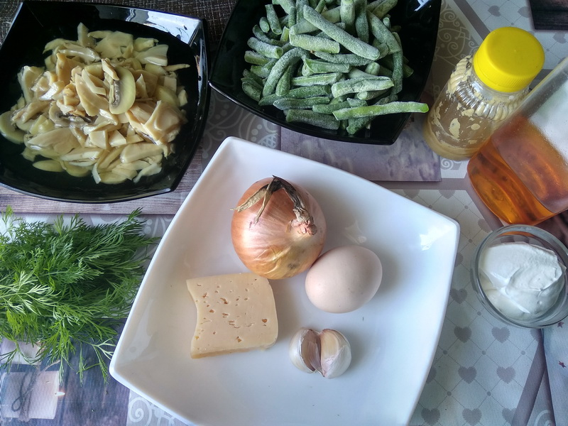 Мой почётный салат «Зелёная фасоль с блинчиками», готовлю круглый год - абсолютно беспроигрышное сочетание