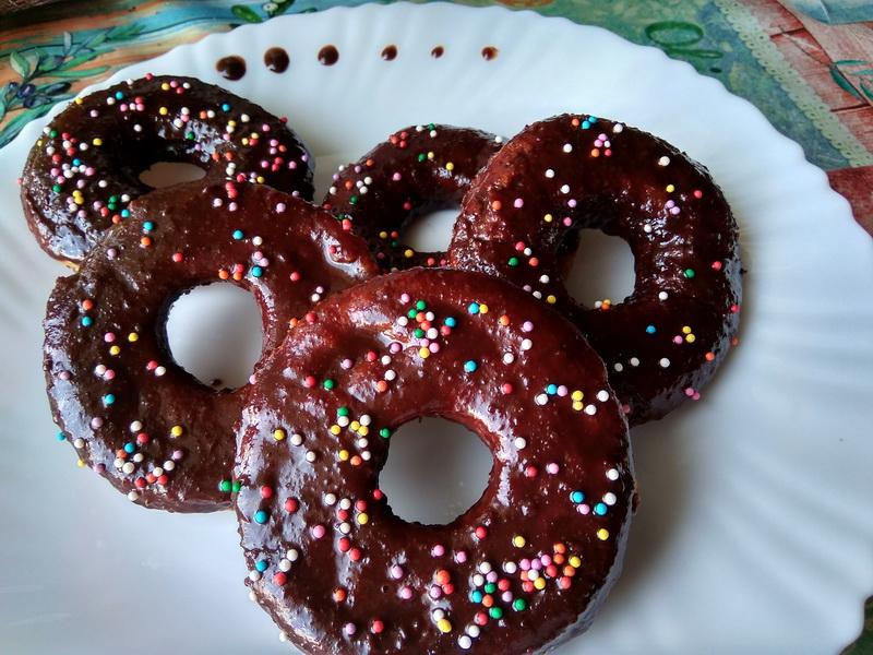 Овсяные пончики в шоколаде