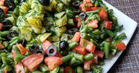 Салат «Афинские развалины» (рецепт узнала у подруги-веганки, но понравился даже моим мясоедам)