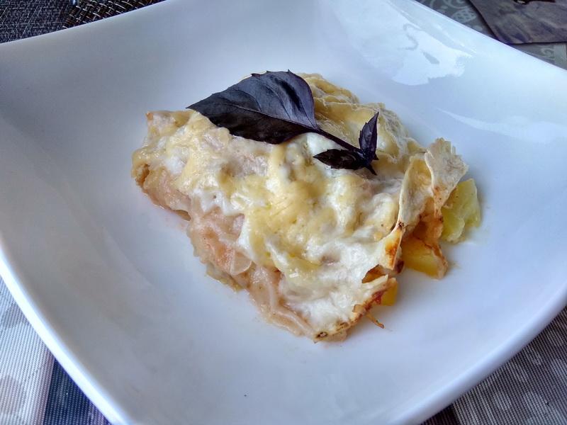 Невероятные вкус. Лазанья из лаваша с начинкой из кабачка с томатами