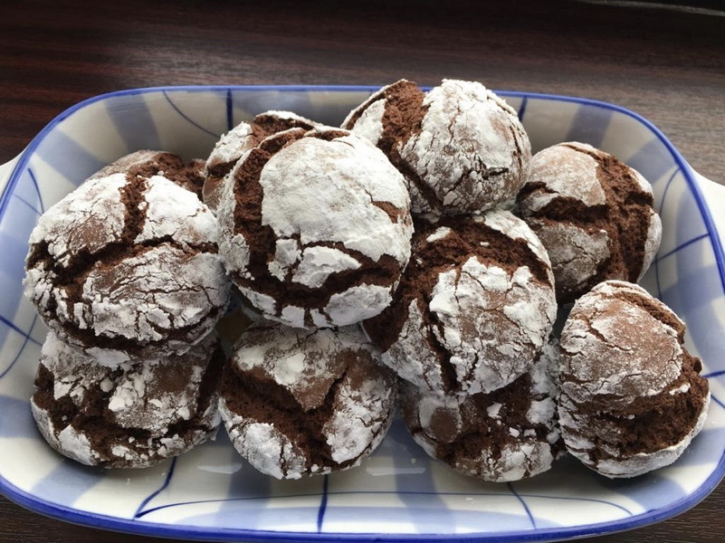 Шоколадное мраморное печенье