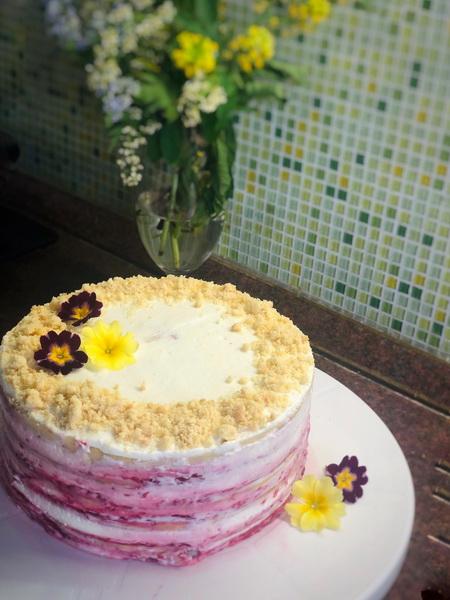 Вкуснейший песочный торт на скорую руку