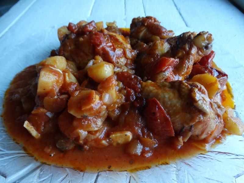 Острая пряная курица в очень простом соусе