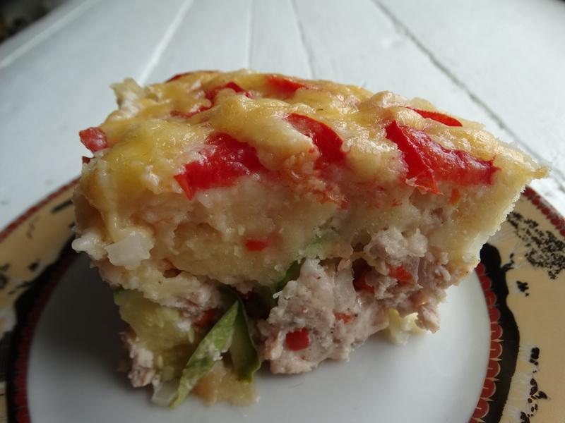 Необычный кабачковый пирог. (Пока были кабачки, готовила чуть ли не каждую неделю)